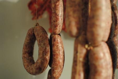 Curing sausage
